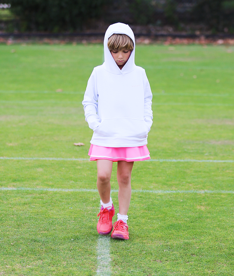 white sleeved hoodies for girls tennis zoe alexander