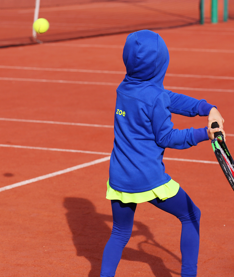 blue winter tennis hoodies from zoe alexander