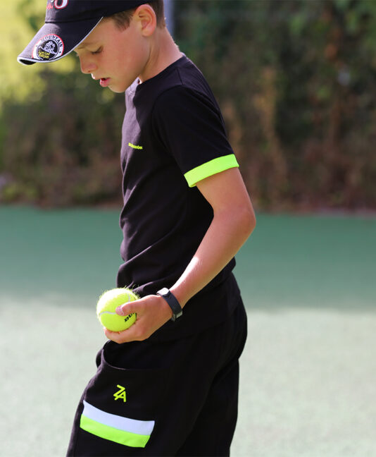 junior tennis apparel black by zoe alexander