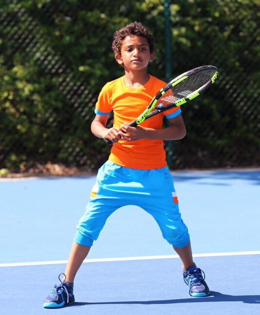 orange tennis wear for boys zoe alexander