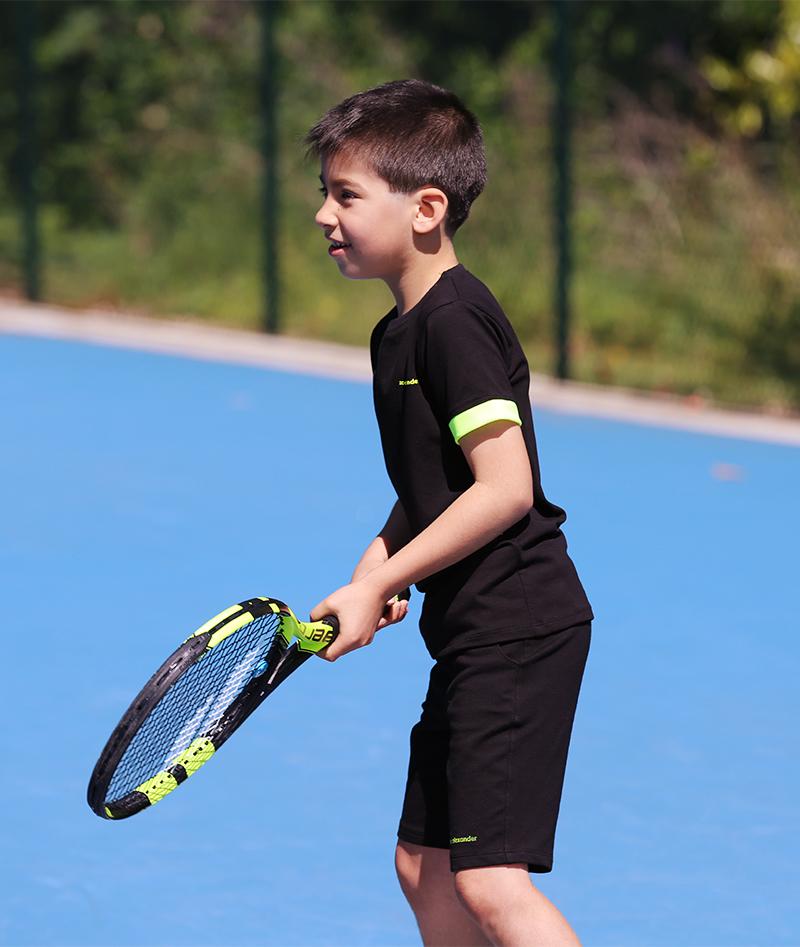 black tennis outfit boys zoe alexander