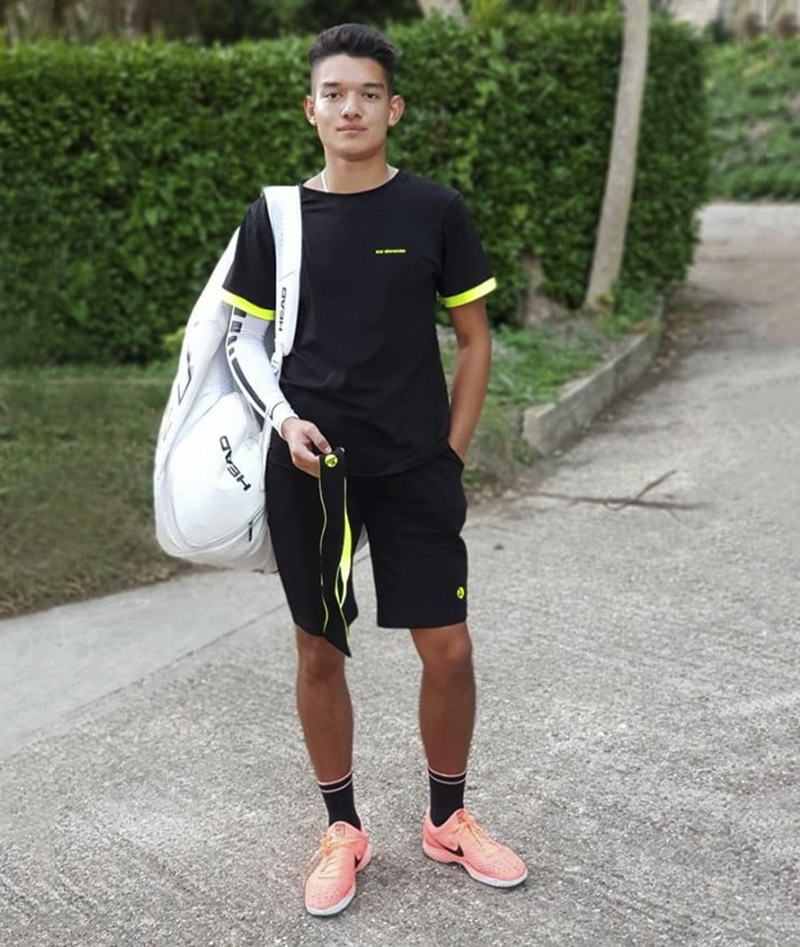tennis boys outfit black shorts neon t-shirt za Zoe alexander uk