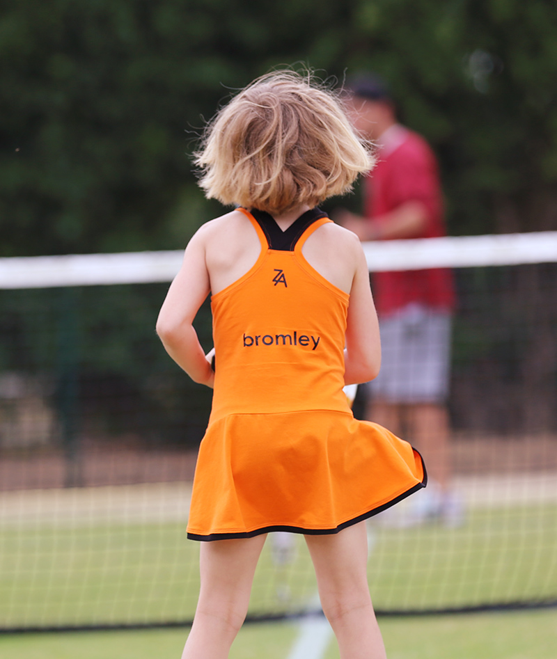 orange tennis dresses for girls by zoe alexander