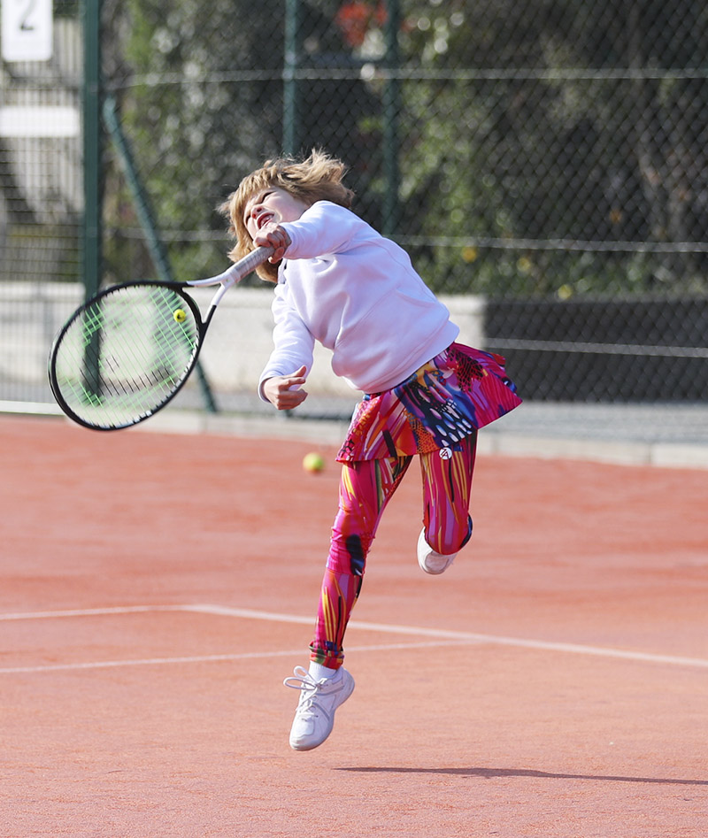 tennis leggings for girls, capri pants and shorts by Zoe Alexander UK