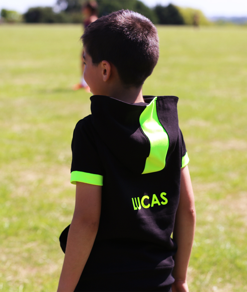 black hoodies personalised tennis kit by zoe alexander