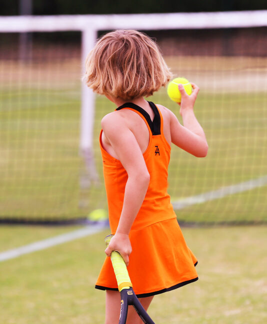 orange tennis dress girls clothes zoe alexander