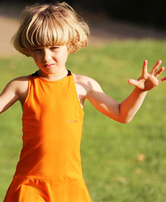 tennis dress orange for girls by zoe alexander