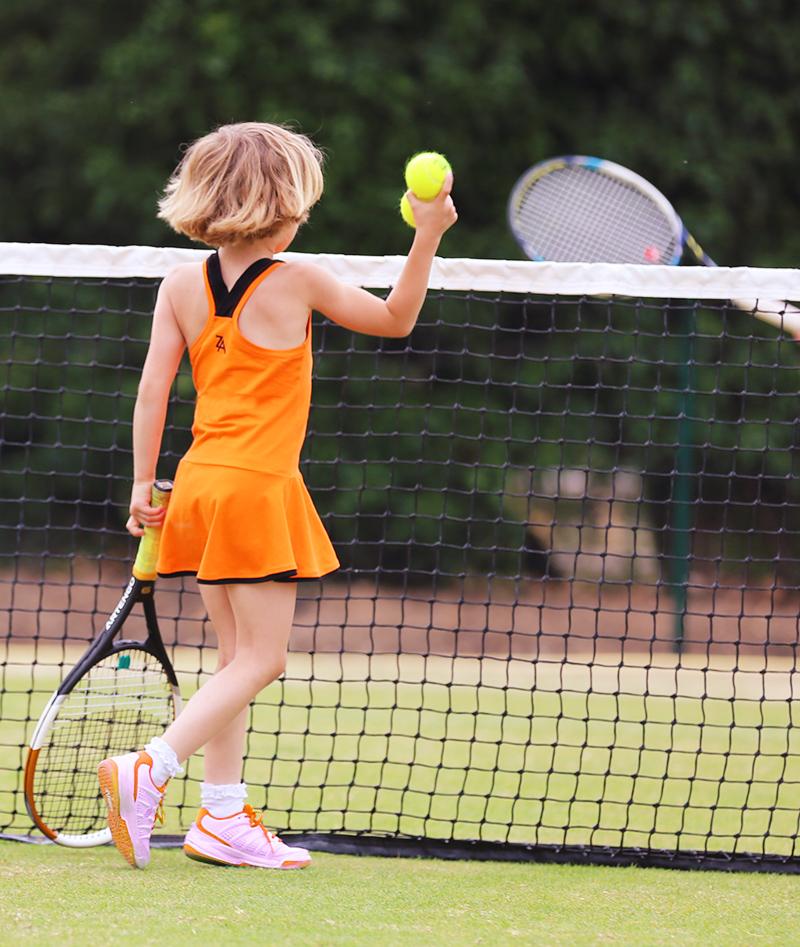 orange tennis dress girls tennis clothes by zoe alexander