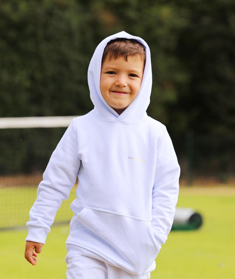 boys white tennis hoodies zoe alexander