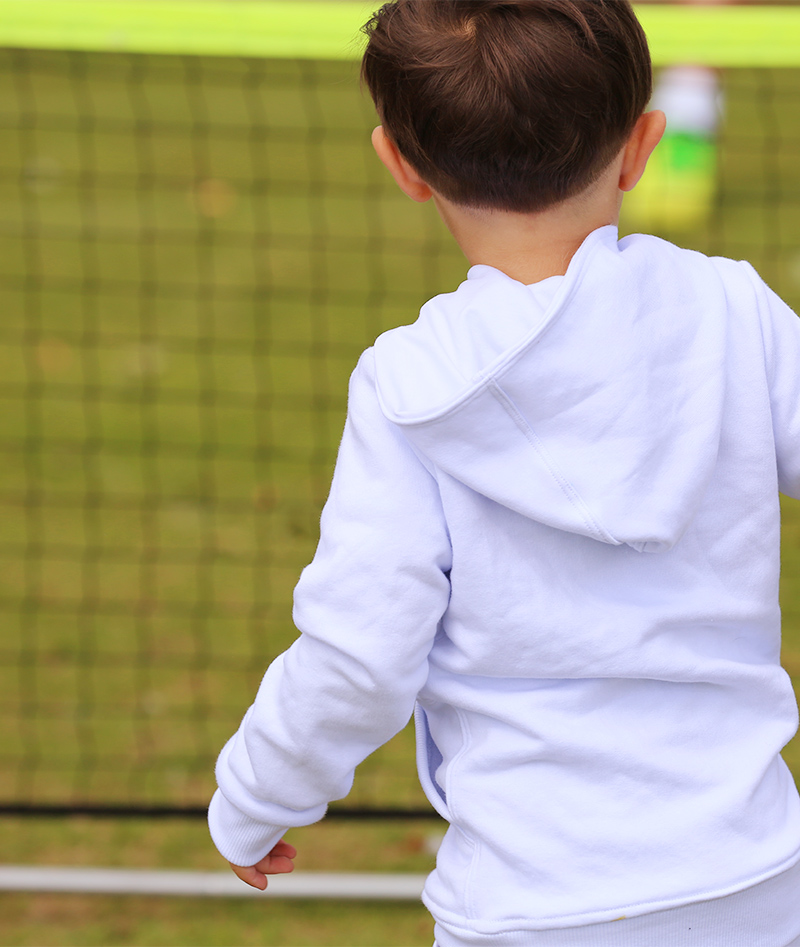 tennis hoodies for boys white by zoe alexander