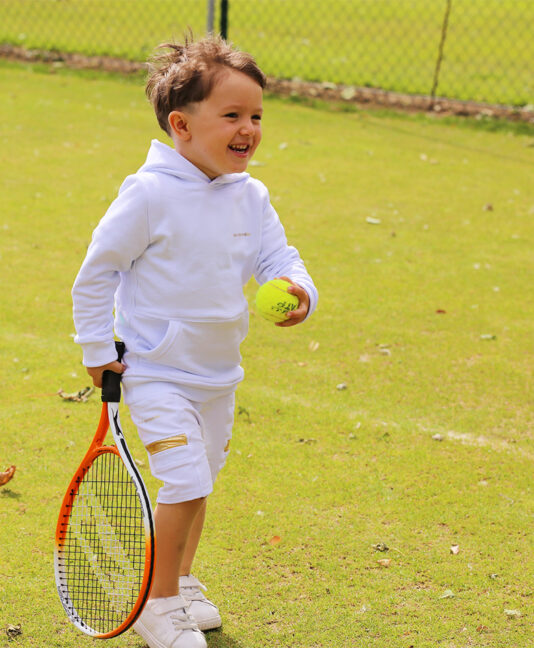 white tennis gear boys hoodies zoe alexander