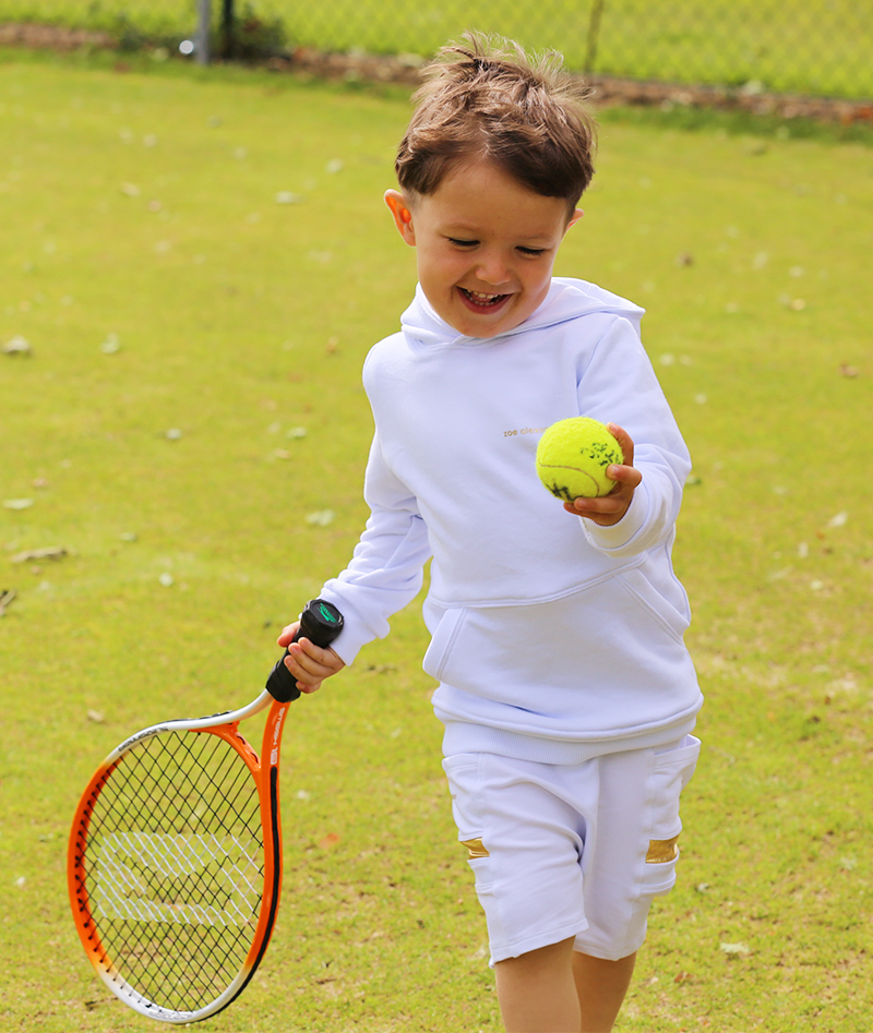 all white tennis hoodies boys zoe alexander