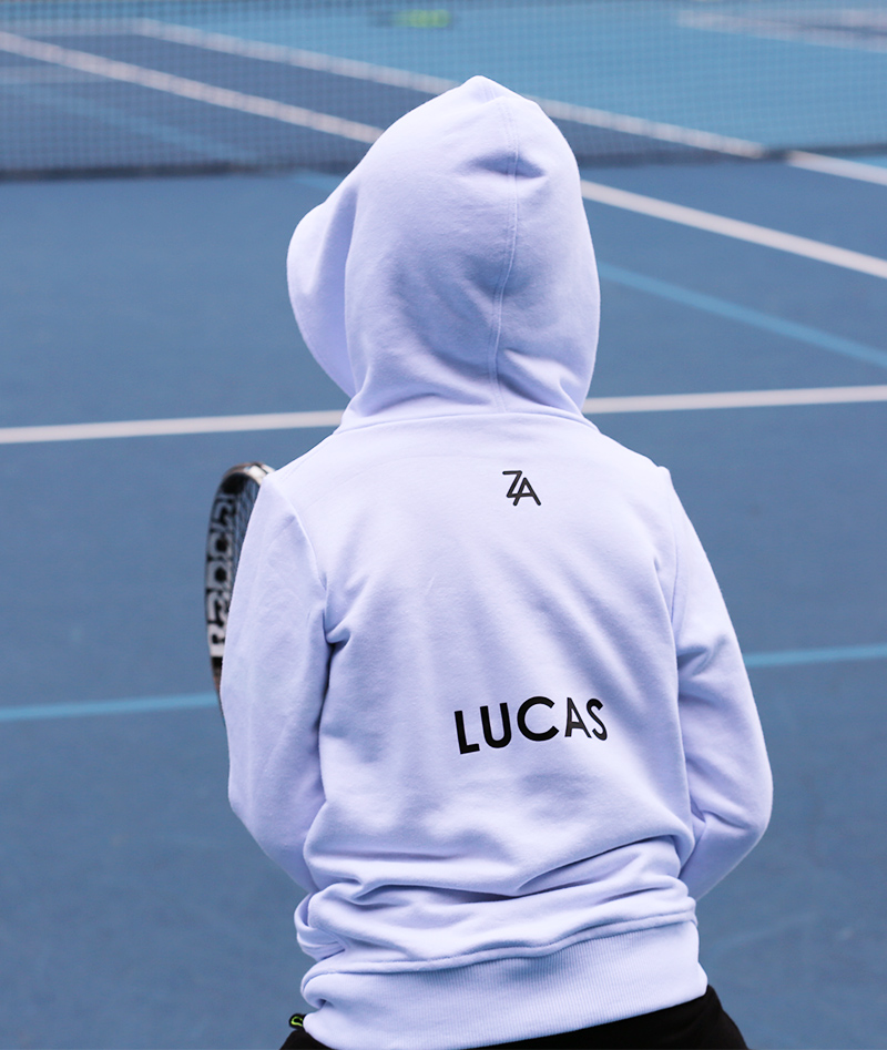 tennis hoodies for boys and girls from zoe alexander