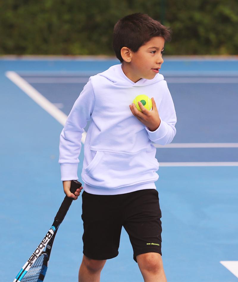 tennis hoodies uk white for boys designed by zoe alexander