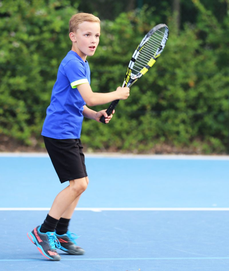 boys tennis clothes blue top black shorts zoe alexander