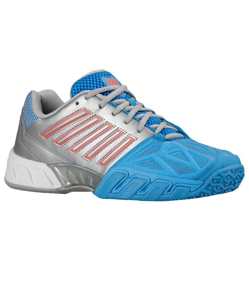 blue silver coral tennis shoes for juniors from K-Swiss available from Zoe Alexander UK