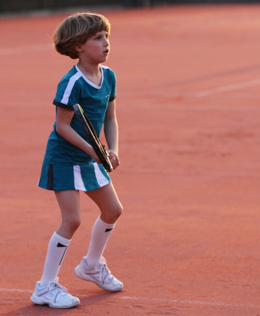 petrol teal tennis clothes outfit for girls zoe alexander top and skirt