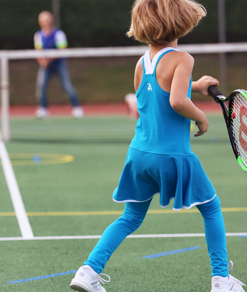 blue tennis dress girl Zoe Alexander