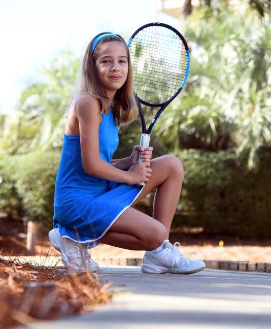 blue tennis headband zoe alexander