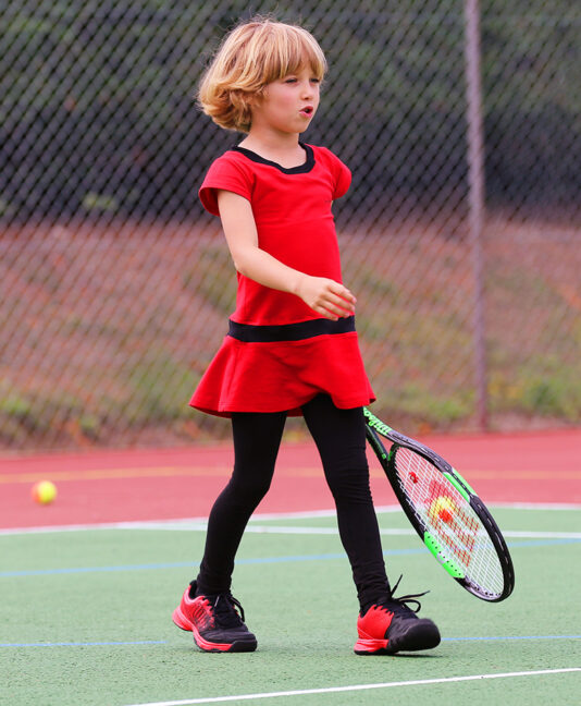 tennis clothes girls red dress by Zoe Alexander