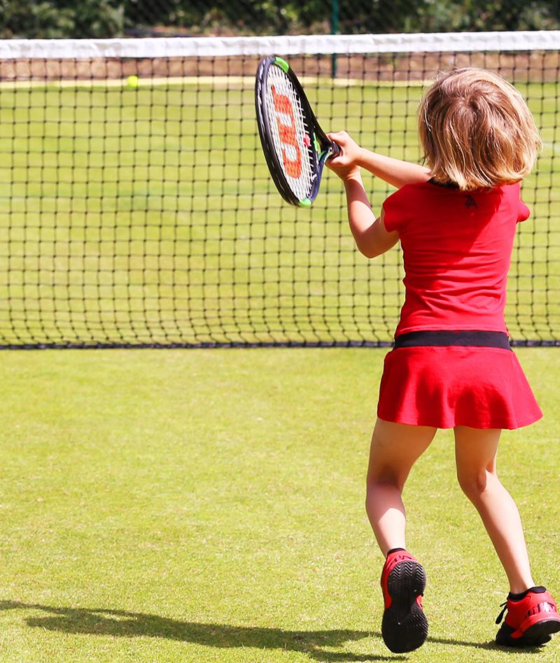 zoe alexander red tennis dress