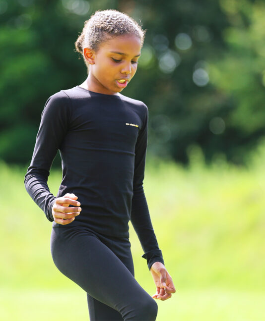 girls black tennis training tops and leggings zoe alexander