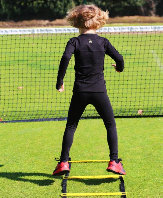 junior tennis apparel girls training tops and leggings by zoe alexander