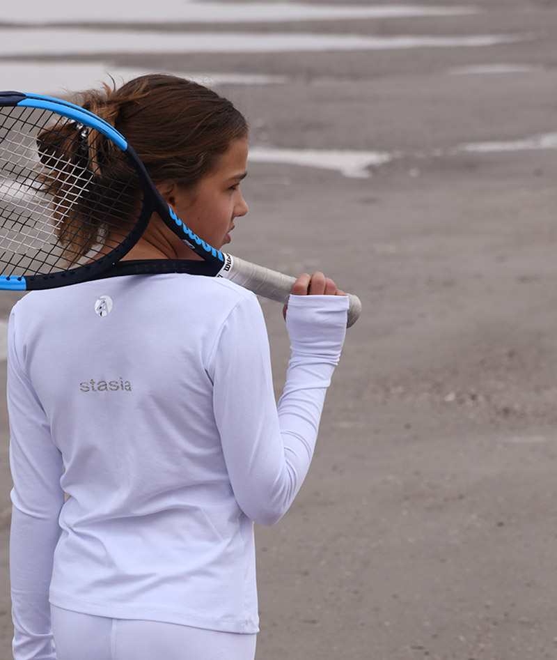 girls cotton tennis training tops and ledges zoe alexander