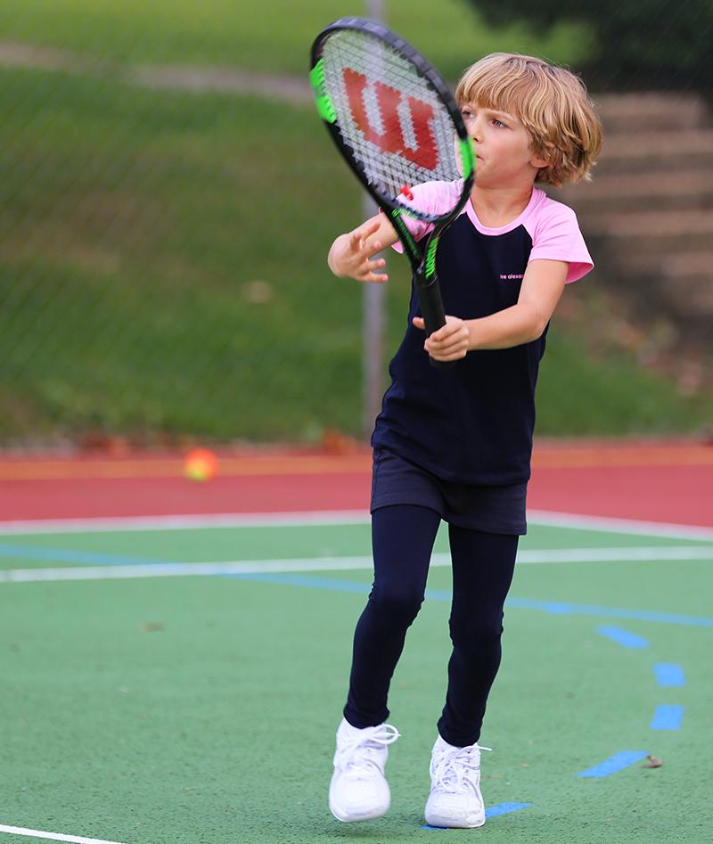 navy tennis top raglan sleeve a line skirt zoe alexander isabella