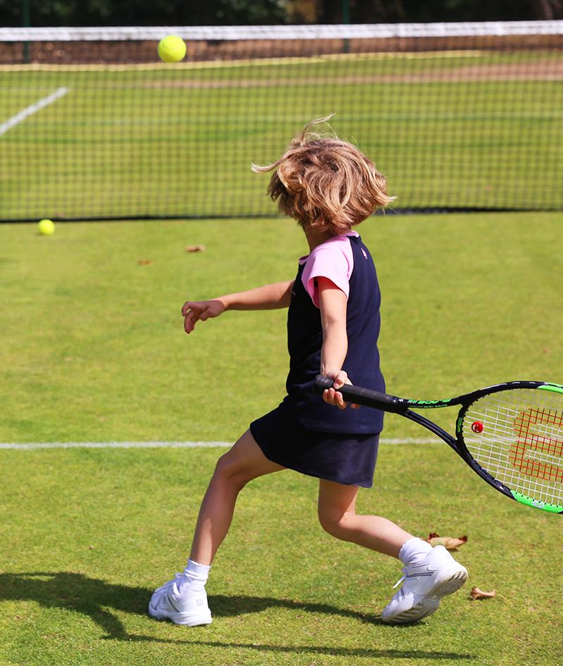 navy pink raglan tennis top a line skirt isabella zoe alexander