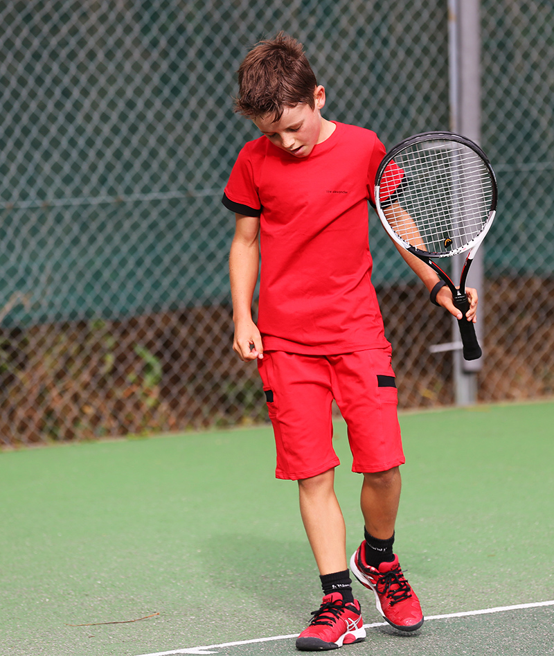 red tennis wear boys pablo zoe alexander