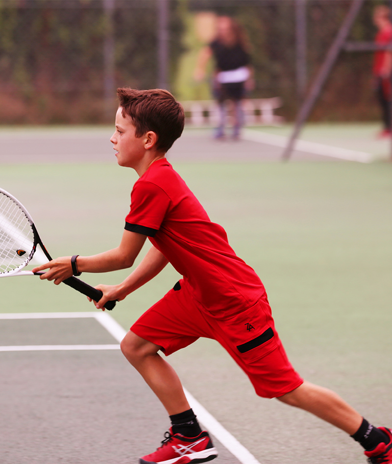 junior tennis wear red for boys zoe alexander