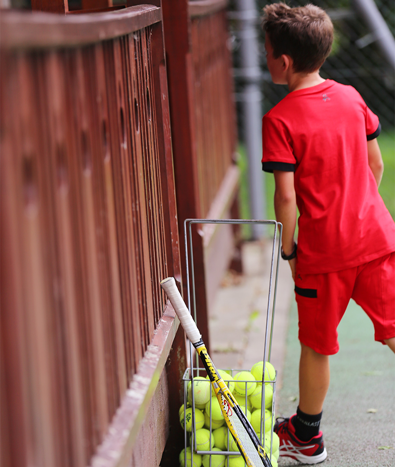 red tennis top and shorts for boys by zoe alexander