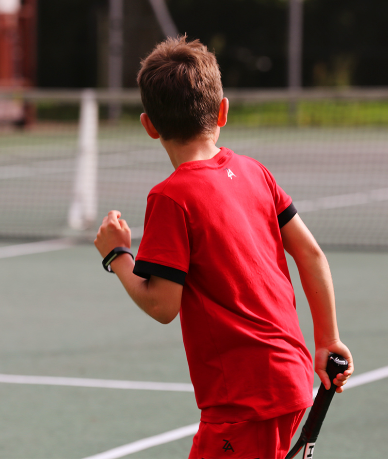 red tennis clothes for boys from zoe alexander