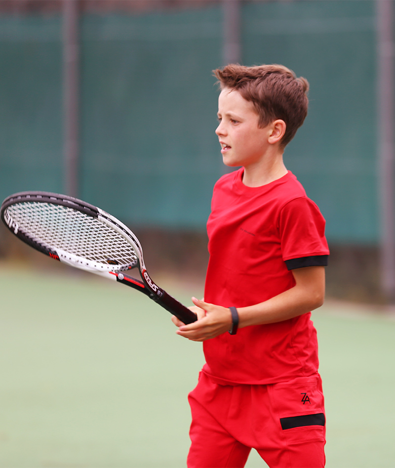 pablo red boys tennis outfit clothes from zoe alexander uk