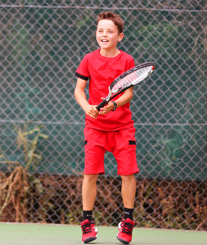 Pablo Red Boys Tennis Outfit Zoe Alexander
