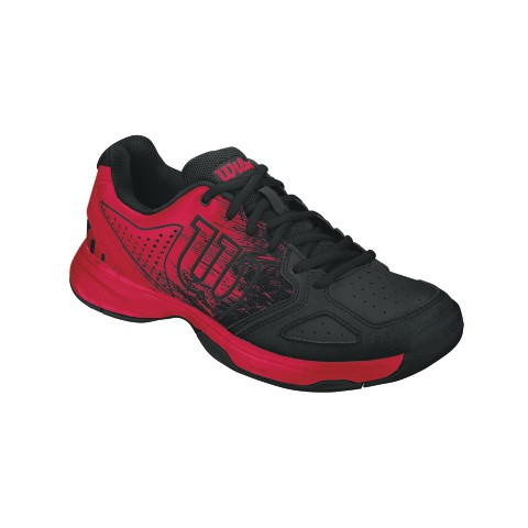 wilson kaos comp junior tennis shoes red black zoe alexander