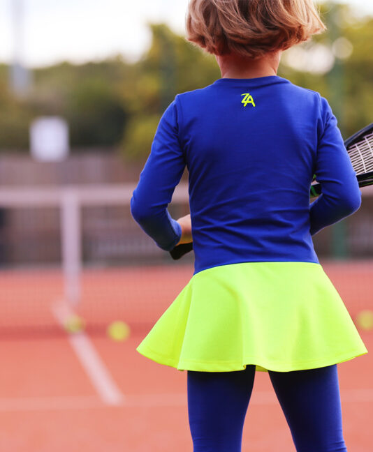 daria long sleeve winter tennis dress by zoe alexander