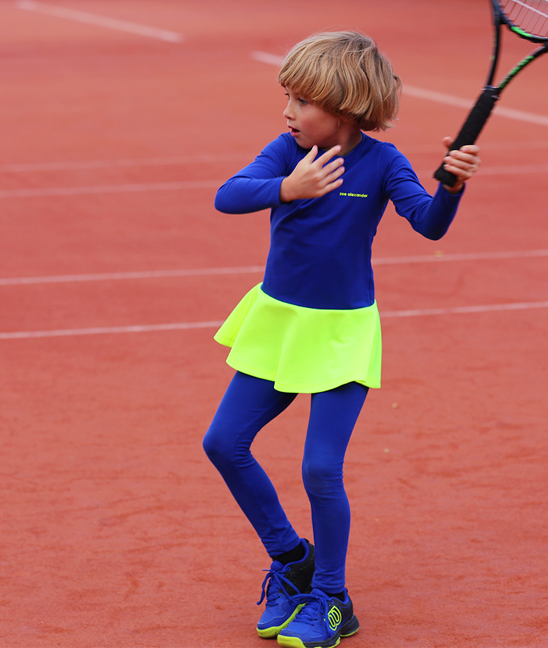 wilson chaos blue tennis shoes with daria tennis dress zoe alexander
