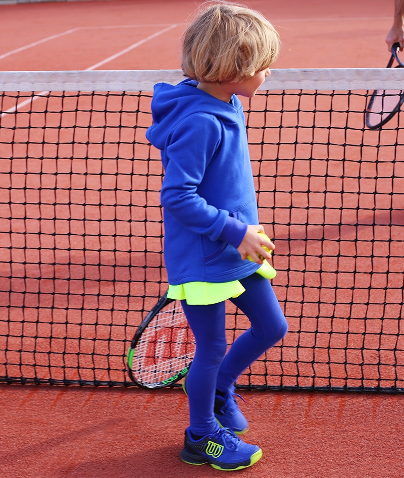 blue tennis hoodies for girls winter zoe alexander