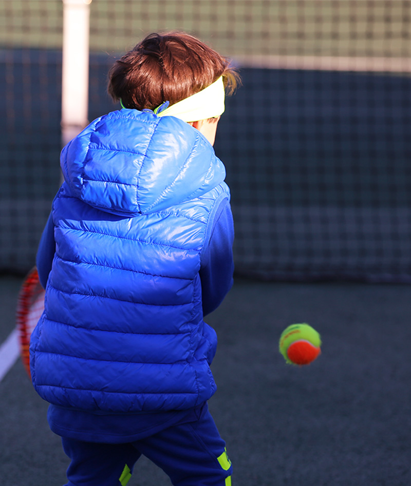 sleeveless boys tennis puffa jacket zoe alexander
