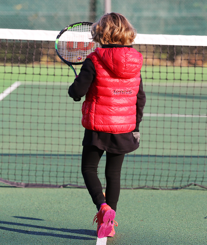 sleeveless puffa jacket girls tennis hoodies zoe alexander