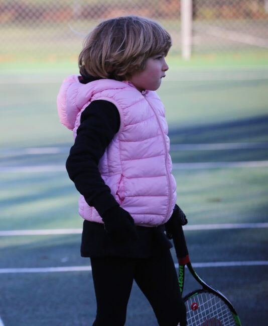 tennis puffa jacket sleeveless for girls zoe alexander