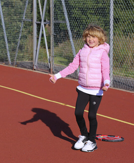 SLEEVELESS JACKET PUFFA GIRLS KIDS TENNIS ZOE ALEXANDER UK ZA