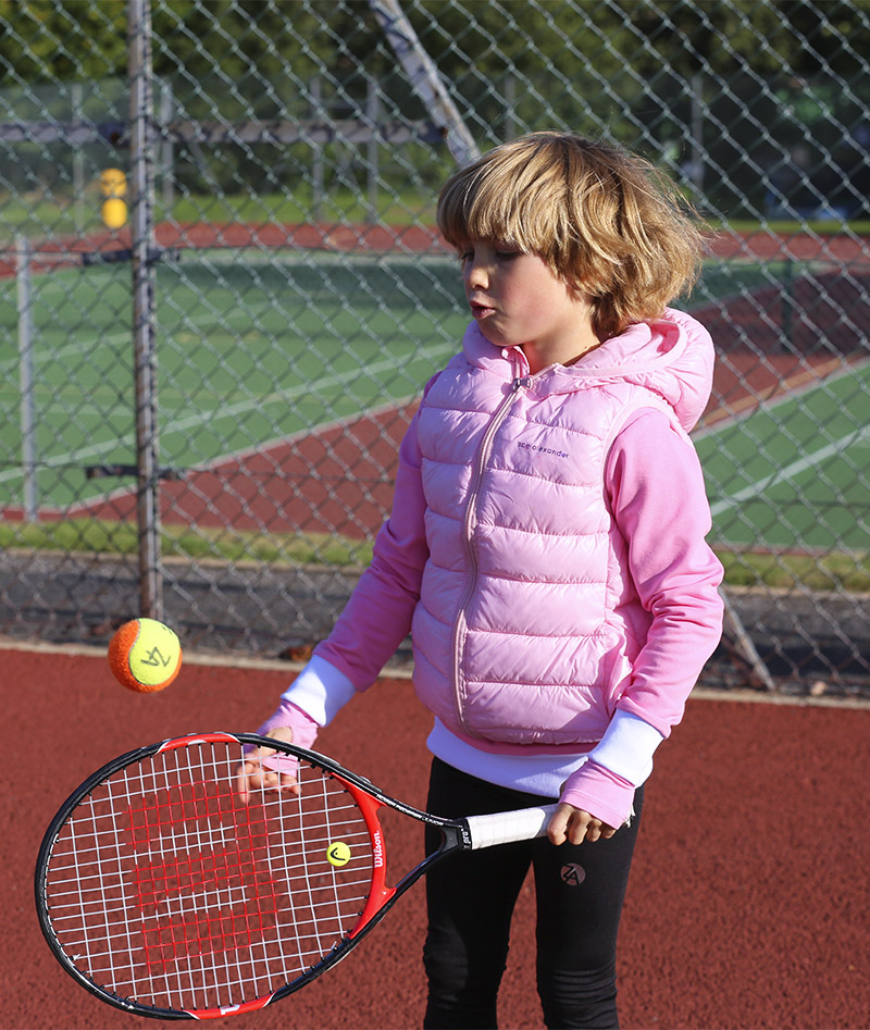 CLOTHES SLEEVELESS JACKET PUFFA GIRLS KIDS TENNIS ZOE ALEXANDER UK ZA