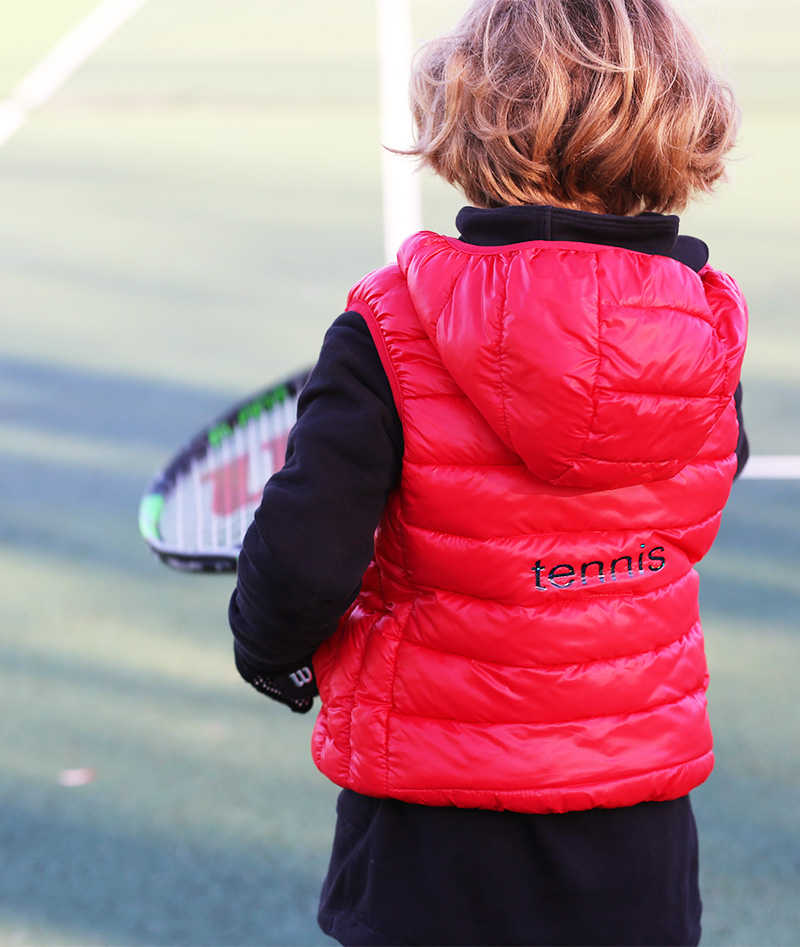 sleeveless tennis gilet puffa jacket for girls zoe alexander