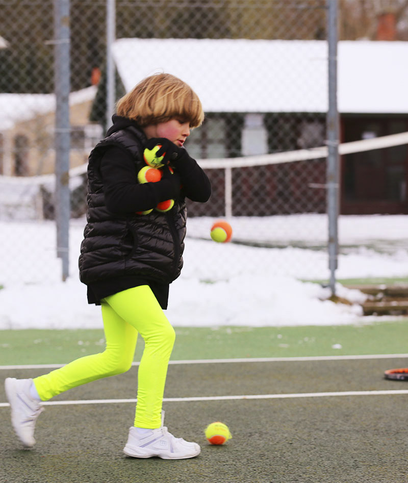 girls tennis leggings puffs jacket winter black neon Zoe Alexander uk za