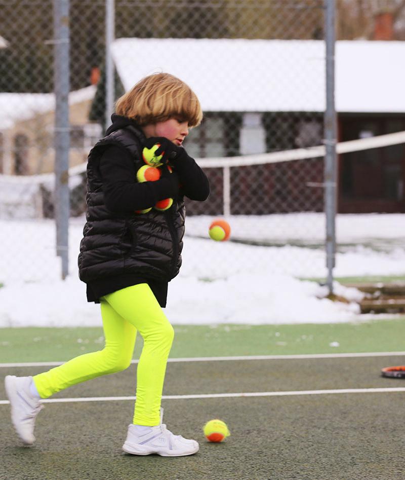 girls tennis leggings puffs jacket winter black neon Zoe Alexander uk za