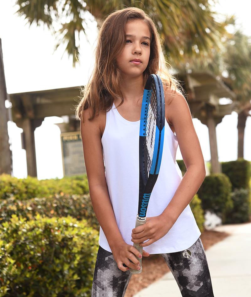 anya white tennis tank top cropped leggings zoe alexander