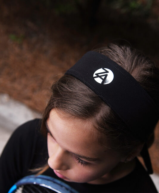 girls tennis headband black zoe alexander